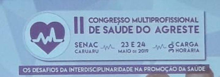 Curso de Nutrição participa do II Congresso Multiprofissional do Agreste